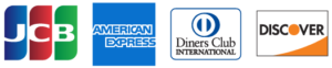 JCB・AMERICAN EXPRESS・Diners Club・DISCOVER